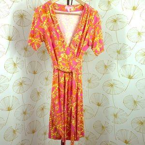 Lily Pulitzer Soft Cotton Wrap Dress Sz M